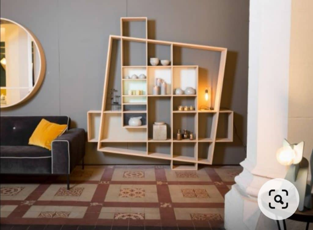 meuble asymétrique tendance