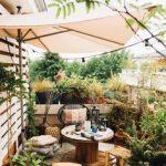 terrasse ombragé parasol