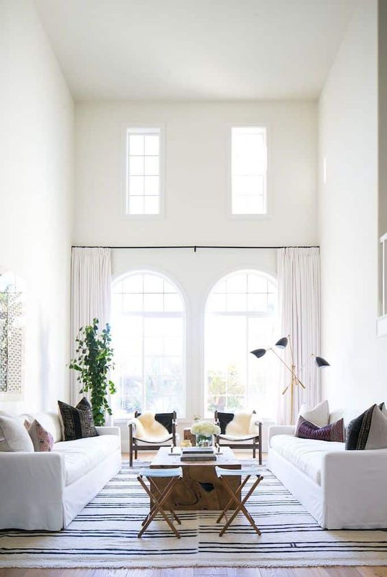 salon symétrique décoration