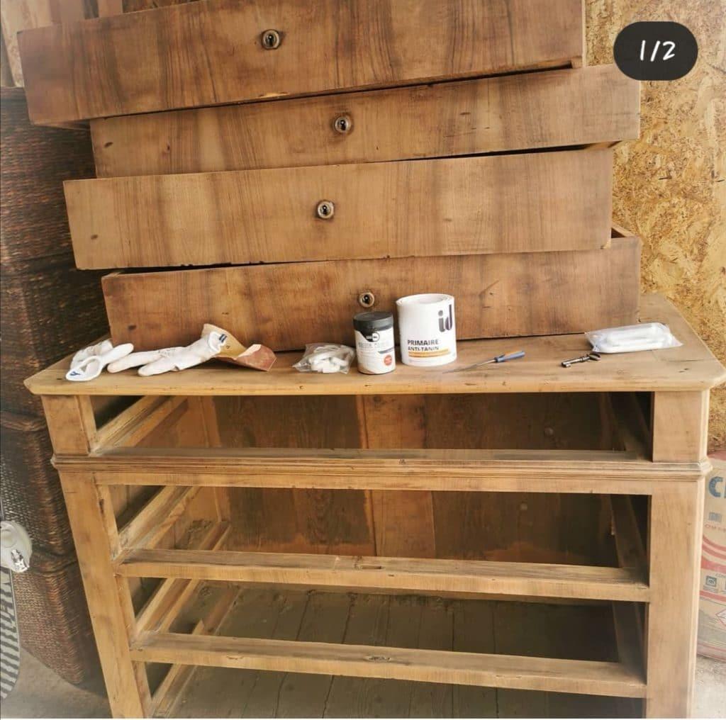 ponçage meuble ancien