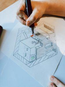 dessin architecte d'intérieur