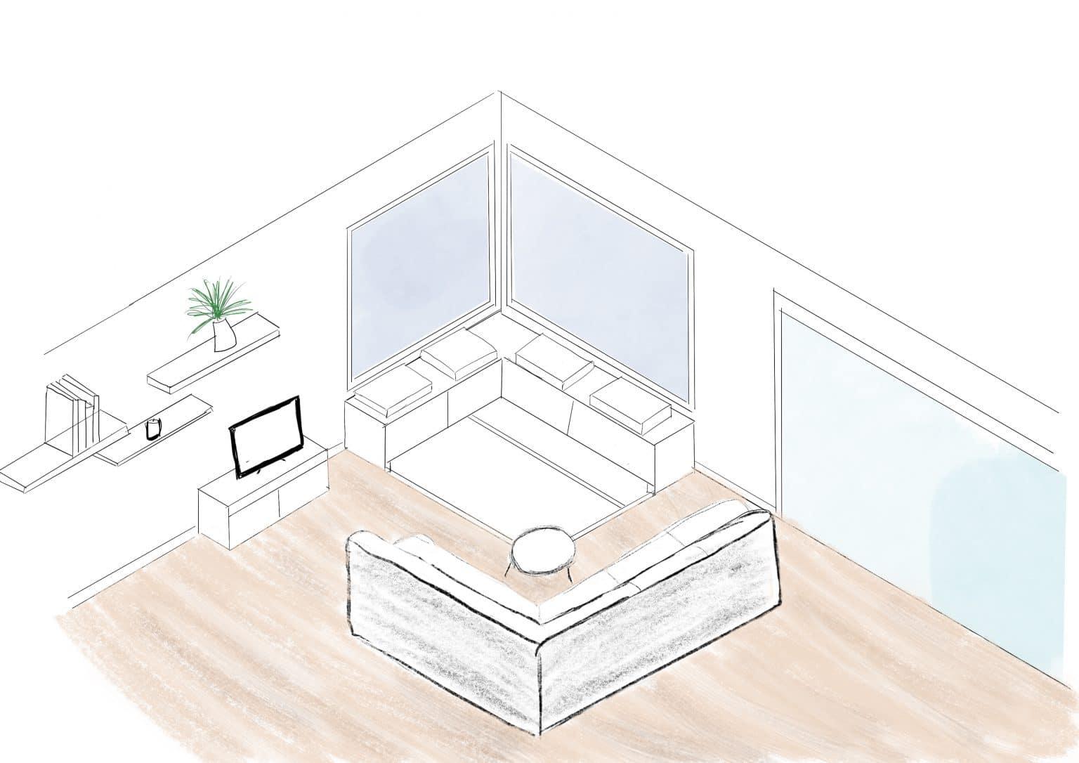 dessin salon decoration