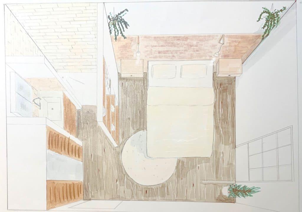 dessin chambre